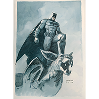 Illustration originale Batman par Marini