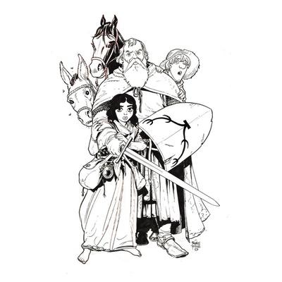 Couverture originale et crayonné préparatoire - Chevalier Brayard