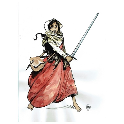 Illustration originale - Chevalier Brayard - Hadiya
