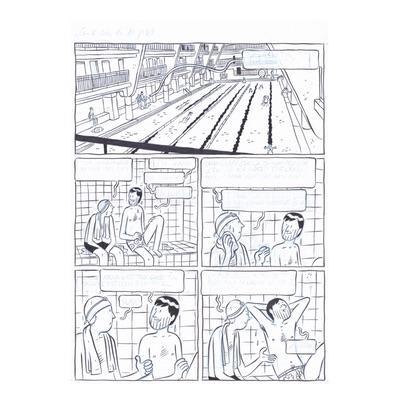 Planche originale - Les deux vies de Baudouin - Page 51