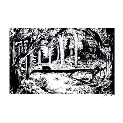 Illustration originale - Le retour de la Bondrée