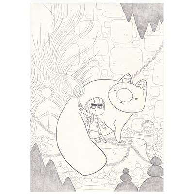 Couverture originale + crayonné - Timo l'aventurier