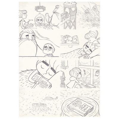 Planche originale + crayonné - page 8 - Timo l'aventurier