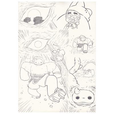 Planche originale + crayonné - page 59 - Timo l'aventurier
