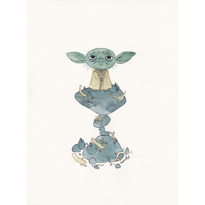 Illustration originale - Master Yoda (Hommage Star Wars)
