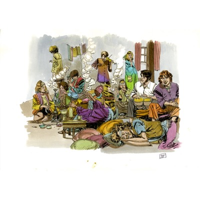 Illustration originale - Flash ou le grand voyage - N°2