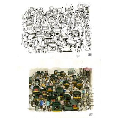 Illustration originale - Flash ou le grand voyage - N°3