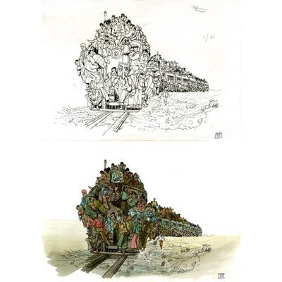 Illustration originale - Flash ou le grand voyage - N°4