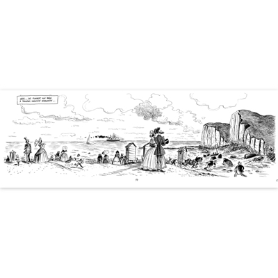 Illustration originale - Trouville - Flaubert - planche 57