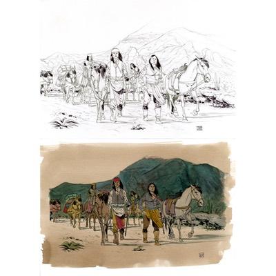 Illustration originale - Geronimo - N°2