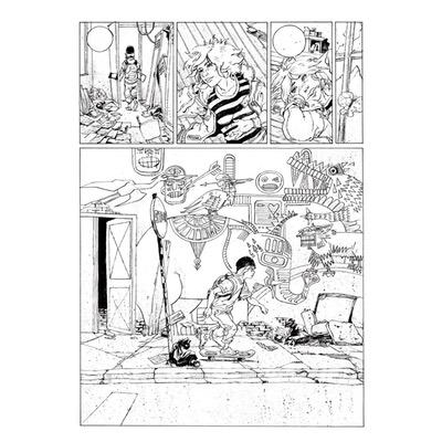 Planche originale - Les bêtes sauvages - Planche N°3