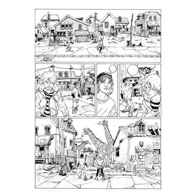 Planche originale - Les bêtes sauvages - Planche N°36