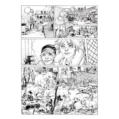 Planche originale - Les bêtes sauvages - Planche N°37
