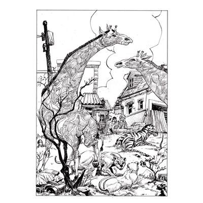 Planche originale - Les bêtes sauvages - Planche N°38