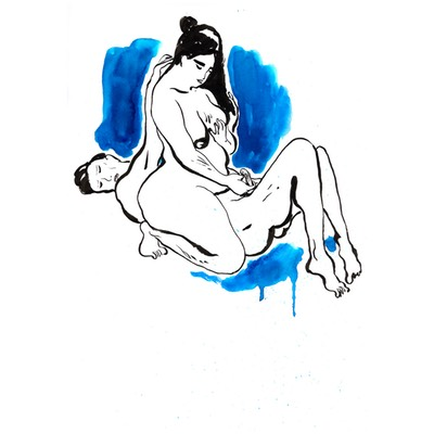 Illustration originale - Couple d'octobre - N°20