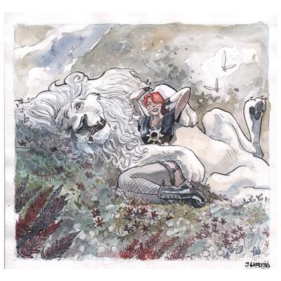Illustration originale - Couverture Filles de soleil