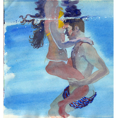 Illustration originale - Ballet aquatique
