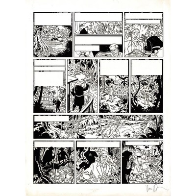 Planche originale - Blake et Mortimer - La vallée des immortels - Tome 2 - Planche 44