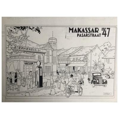 Original drawing - Rampokan - Célèbes