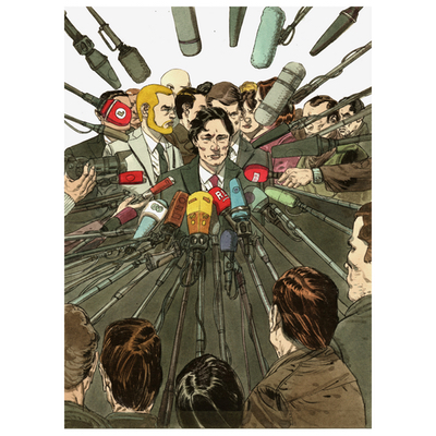 Illustration couverture originale - Deux hommes en guerre - Encrage + mise en couleur