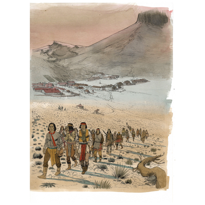 Illustration originale - Geronimo - N°10