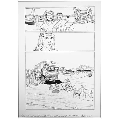 Planche originale - Rencontre sur la Transsaharienne -Planche 37
