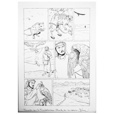 Planche originale - Rencontre sur la Transsaharienne -Planche 44