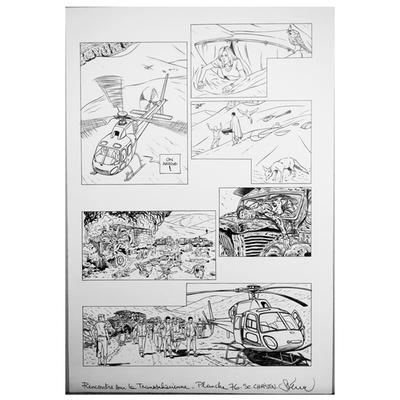 Planche originale - Rencontre sur la Transsaharienne -Planche 76