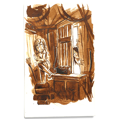 Illustration originale - Cabane