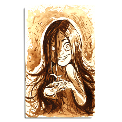 Illustration originale - Creepy Girl