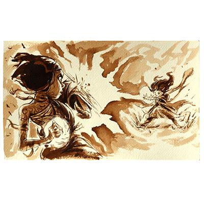 Illustration originale - Duel de Sorcières