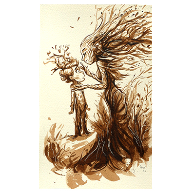 Illustration originale - Enfant Arbre
