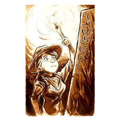 Illustration originale - Exploratrice