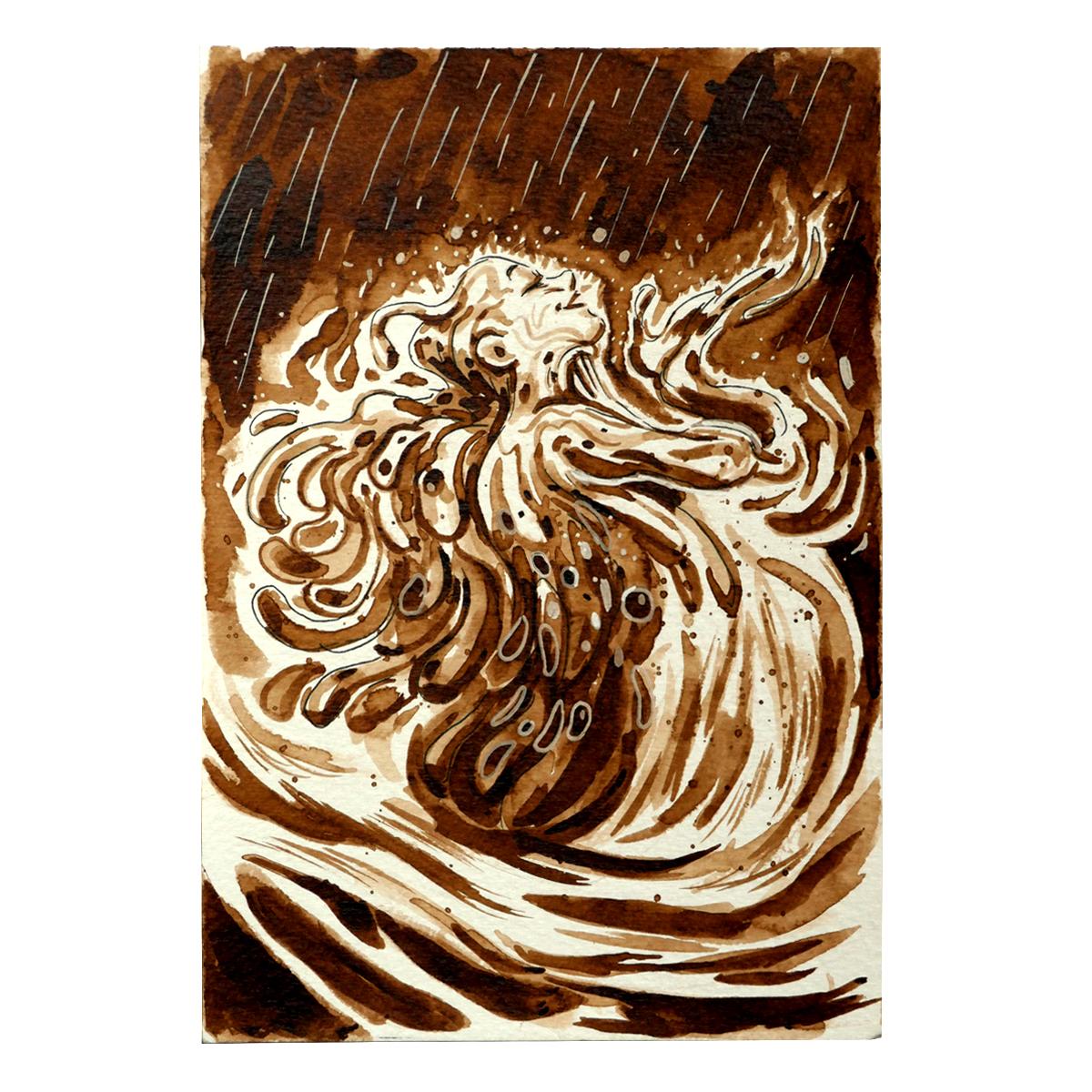 Illustration originale - Fée Aquatique