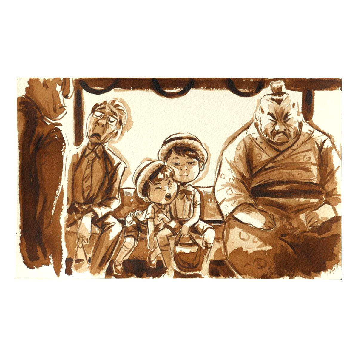Illustration originale - Garçons du Métro