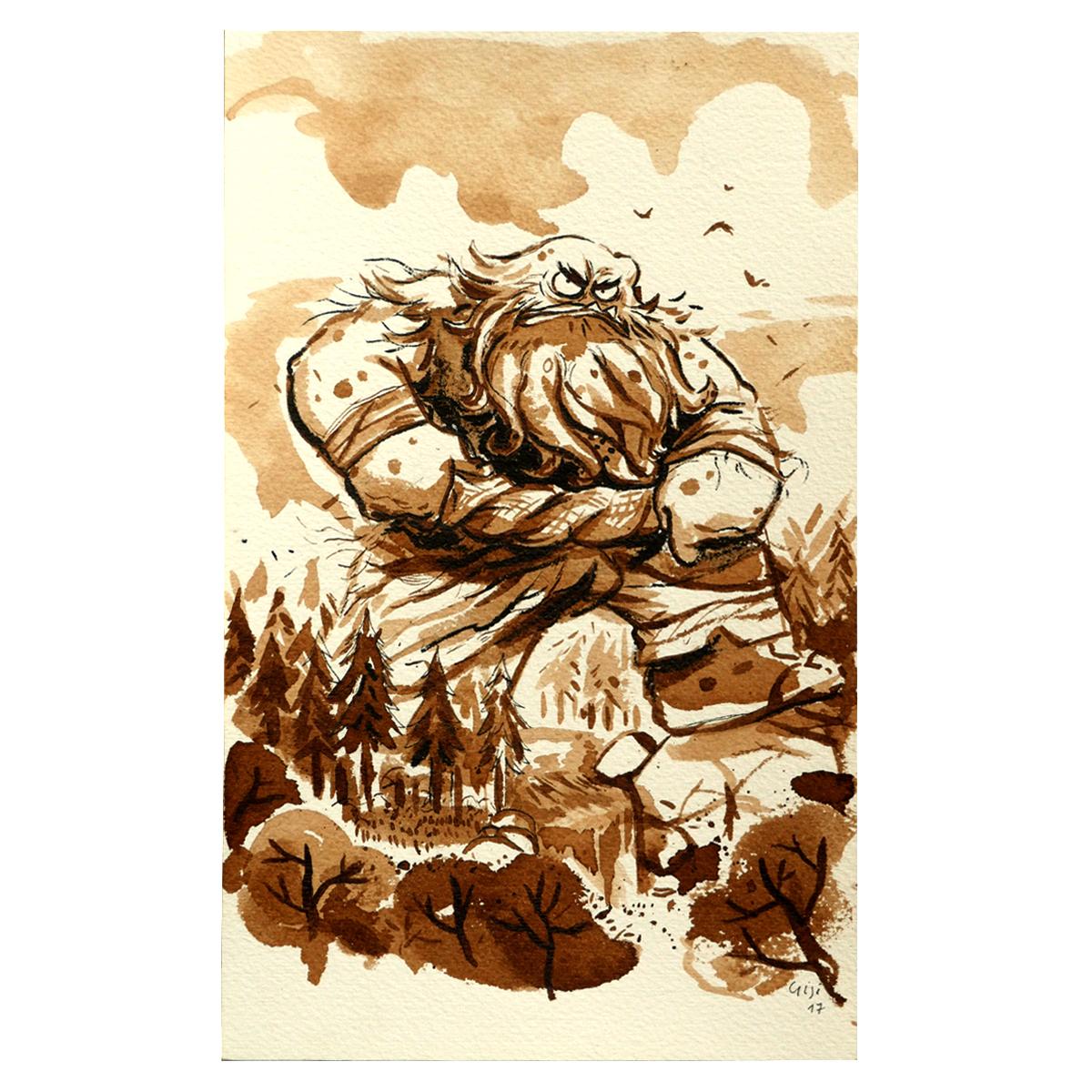 Illustration originale - Géant de la Forêt