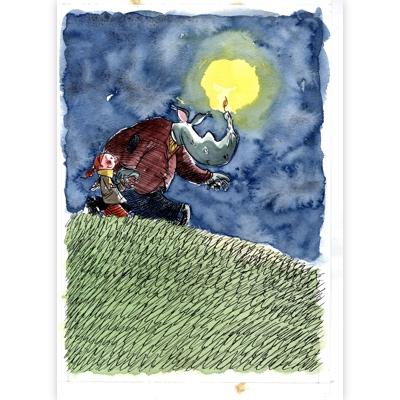 Original Illustration -  Où est passé Riri - Une aventure de Zoé