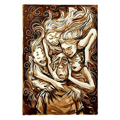 Illustration originale - Les Filles
