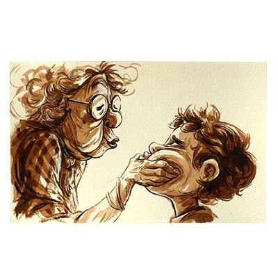 Illustration originale - Mamie Gâteaux