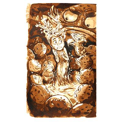 Illustration originale - Monstres Baveux
