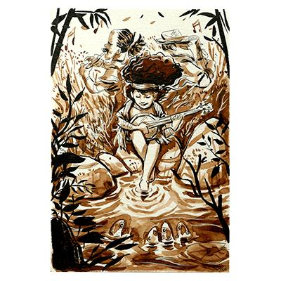 Illustration originale - Musique des Poissons