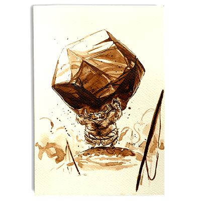 Illustration originale - Rocher