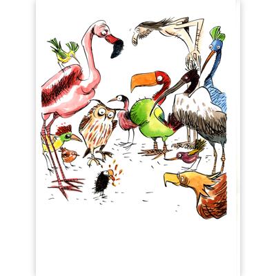 Original Illustration -  Pourquoi le perroquet parle-t-il ?