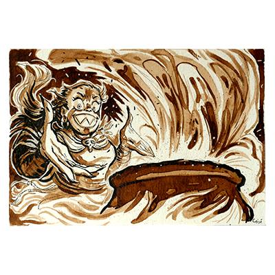 Illustration originale - Sorcière et Marmite