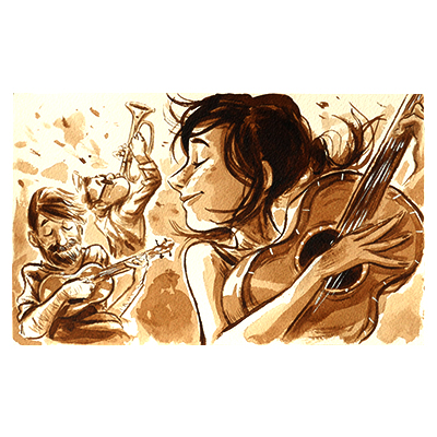 Illustration originale - Trio Musical