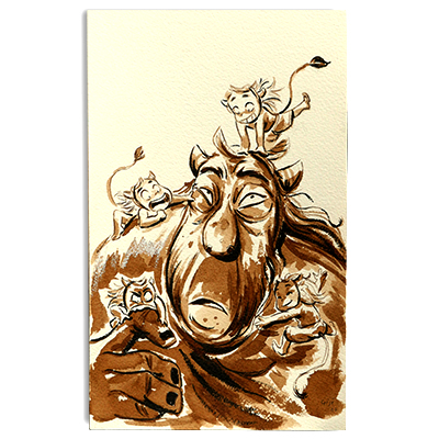 Illustration originale - Troll