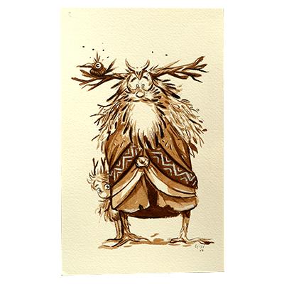 Illustration originale - Vieux Druide