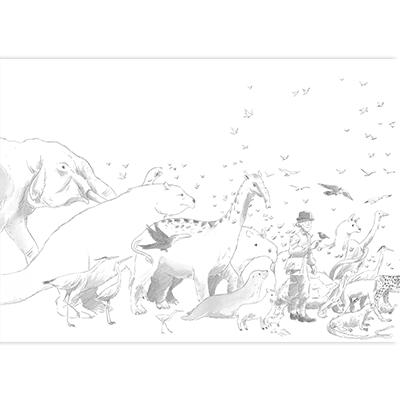 Couverture originale Aux origines de Darwin