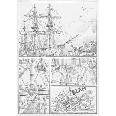 Planche originale Aux origines de Darwin pl 11