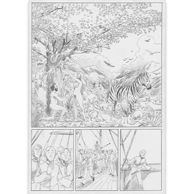 Planche originale Aux origines de Darwin pl 24